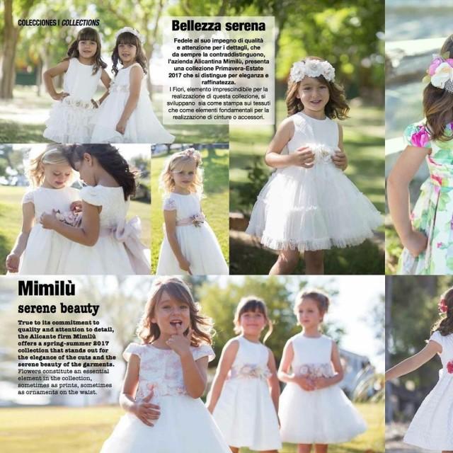 ninsmoda magazine resvista mimilu abitibimbi abiti vestito modabimbi fashionkids cerimoniahellip